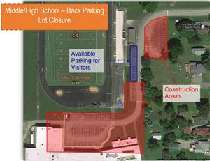 MHS Back Parking Lot Closure